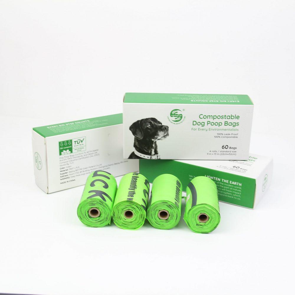 Ekologiški šunų ekskrementų maišeliai